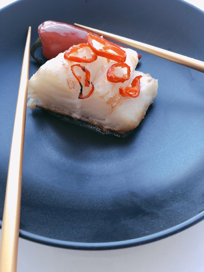 Sweet + Spicy Sea Bass (let's use those chopsticks!)
