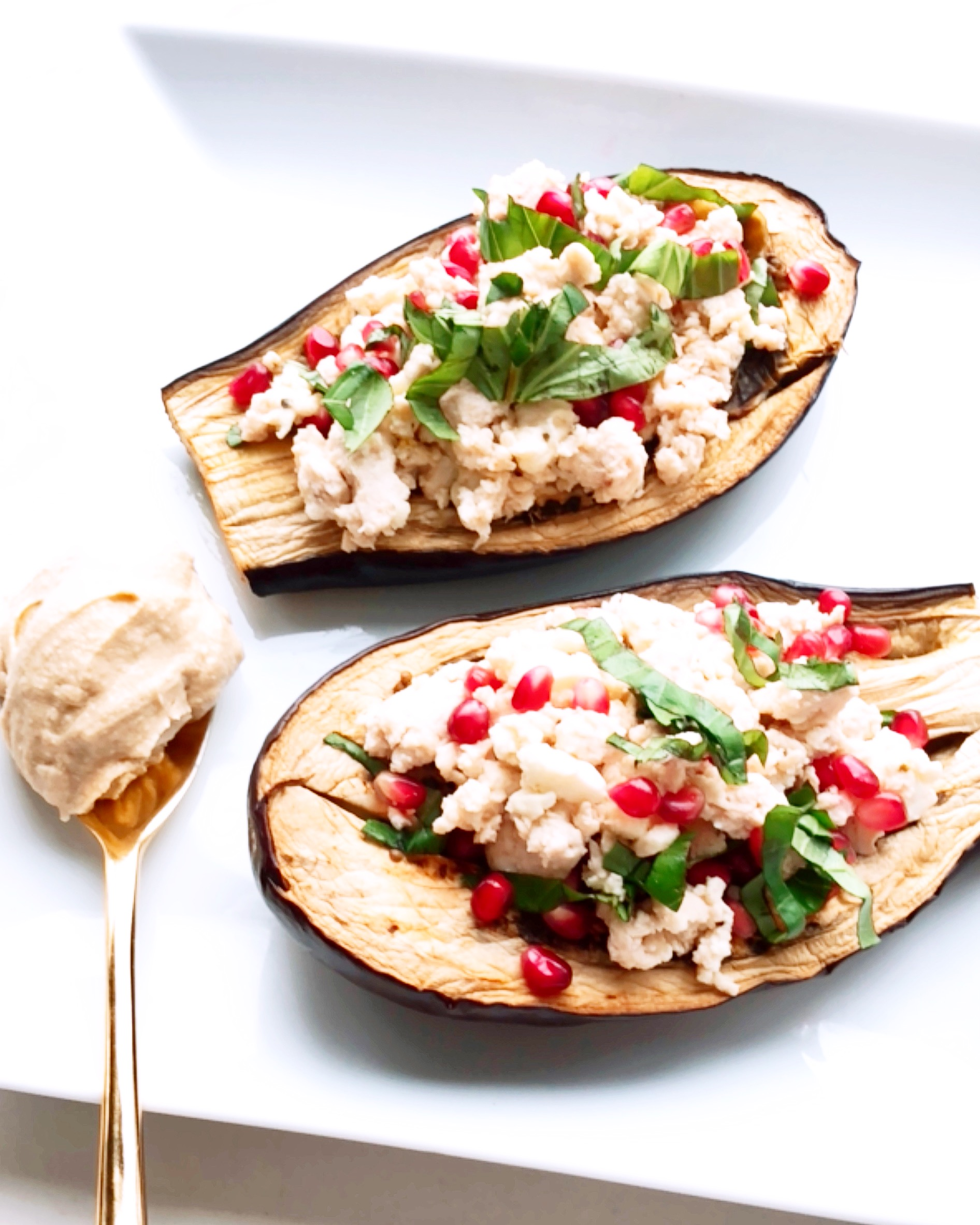Lemon Chicken Stuffed Eggplant
