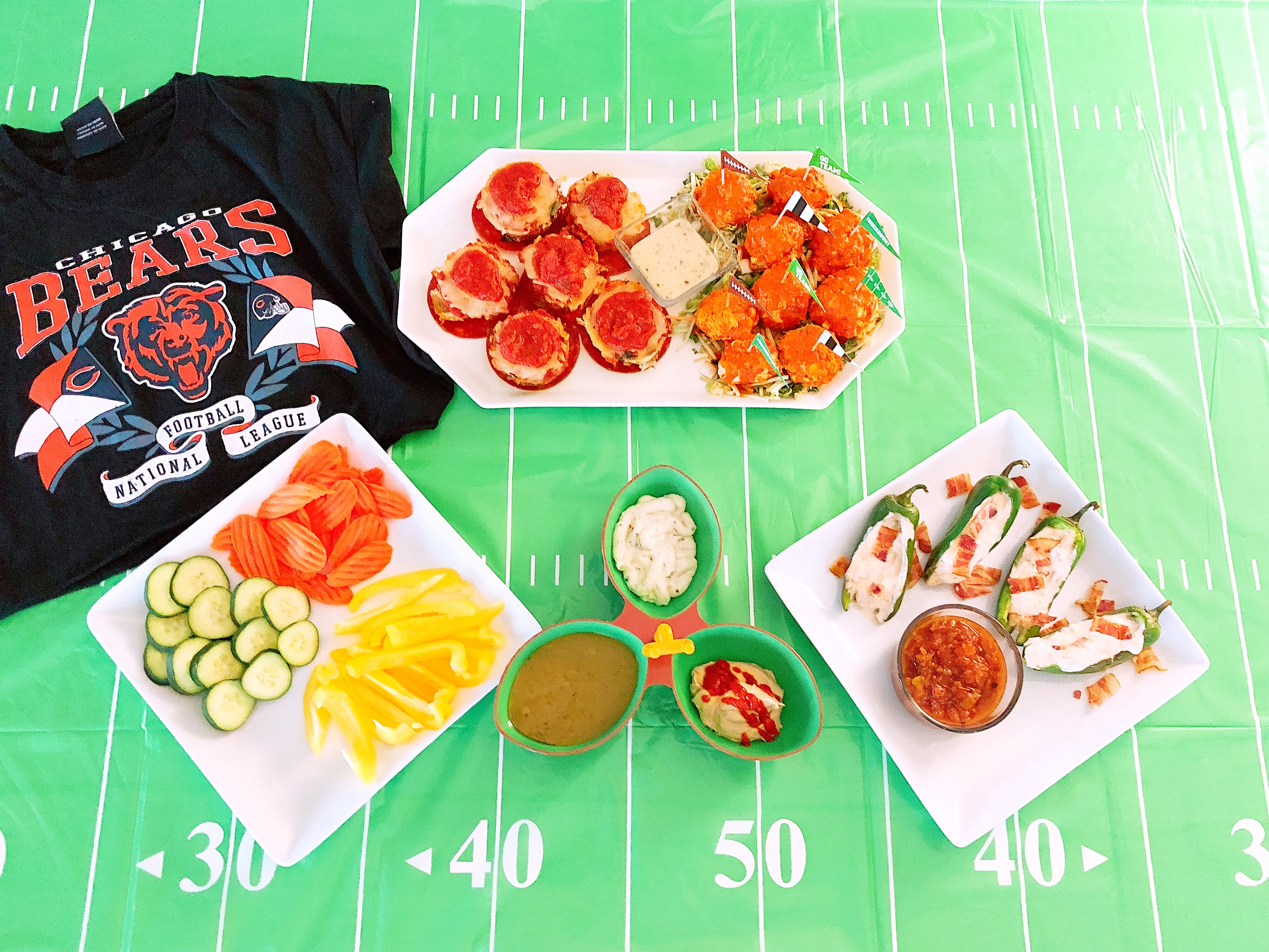 Touchdown! Healthier Football Party Snacks