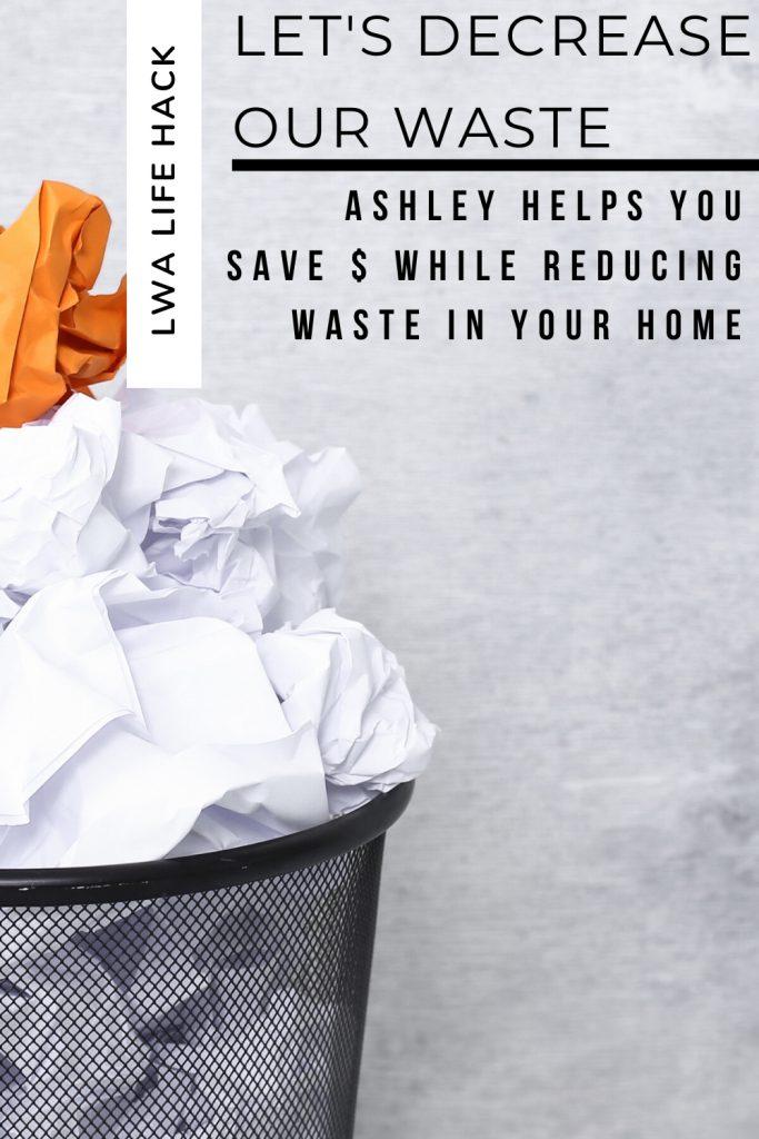 Decrease Waste Poster